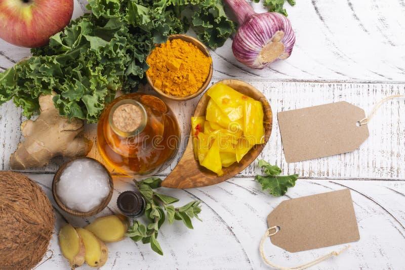 假丝酵母饮食食物 免版税库存图片