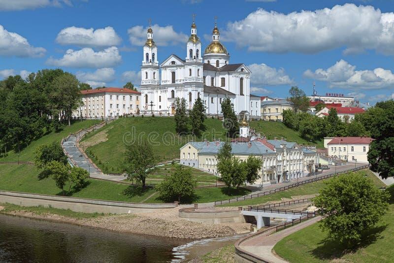 假定大教堂在维帖布斯克,白俄罗斯 免版税库存照片
