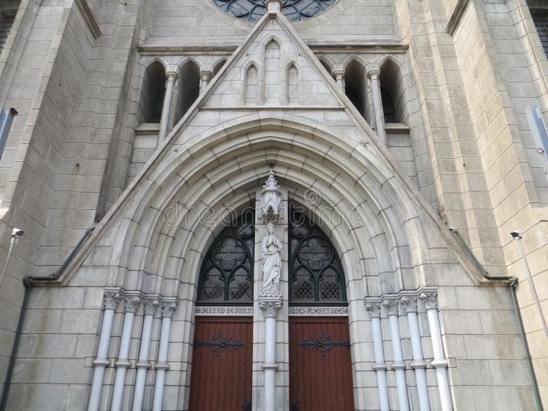 假定大教堂的圣玛丽,雅加达 免版税库存图片