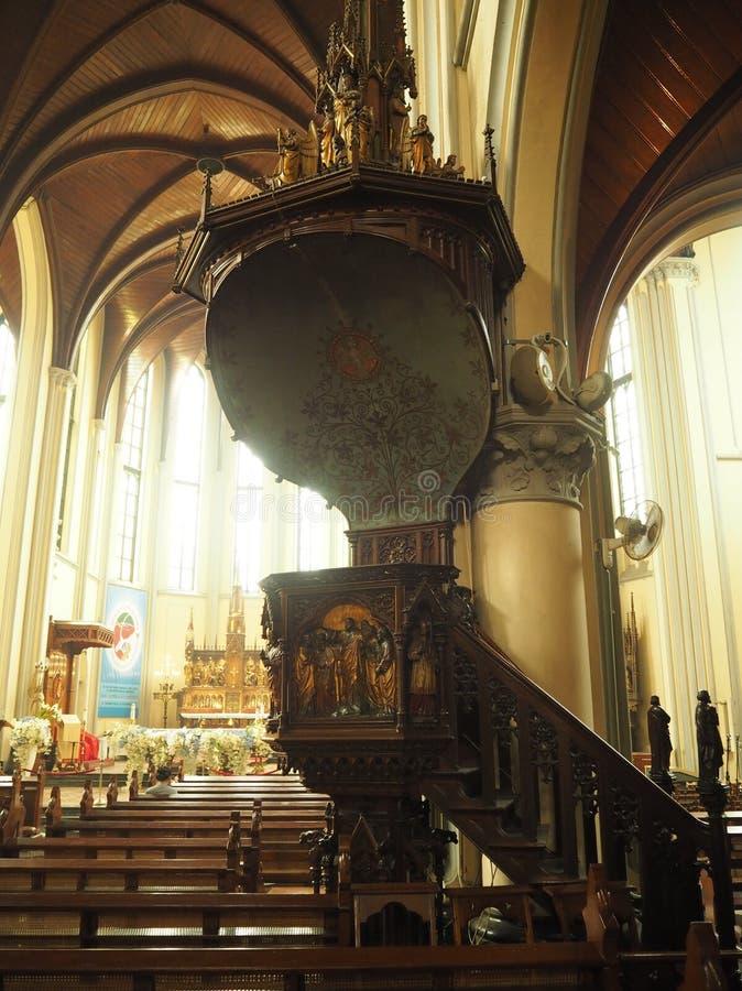 假定大教堂的圣玛丽,雅加达 免版税图库摄影
