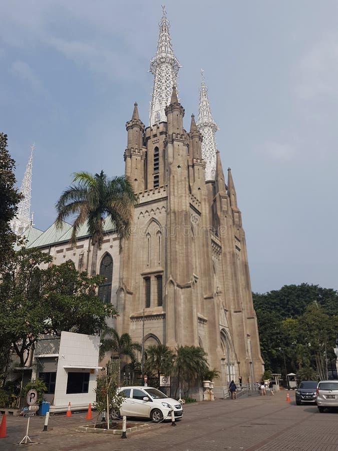 假定大教堂的圣玛丽,雅加达 库存照片