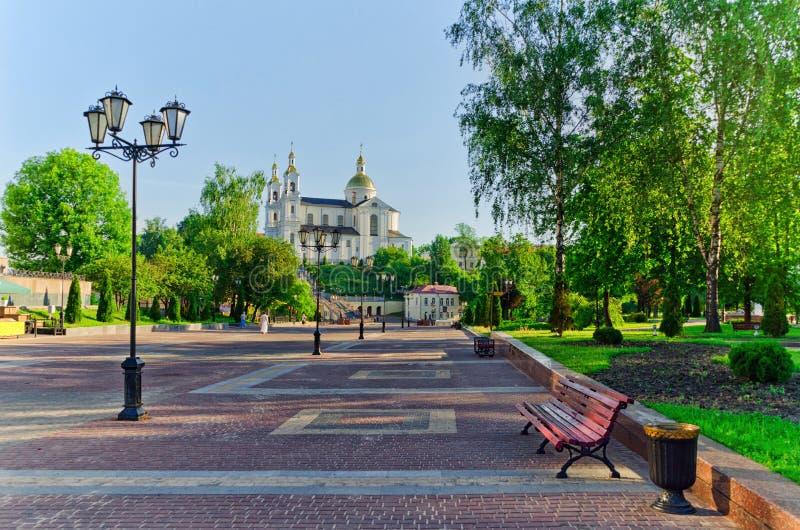 假定小山的圣洁假定大教堂在维帖布斯克,贝耳 免版税库存图片