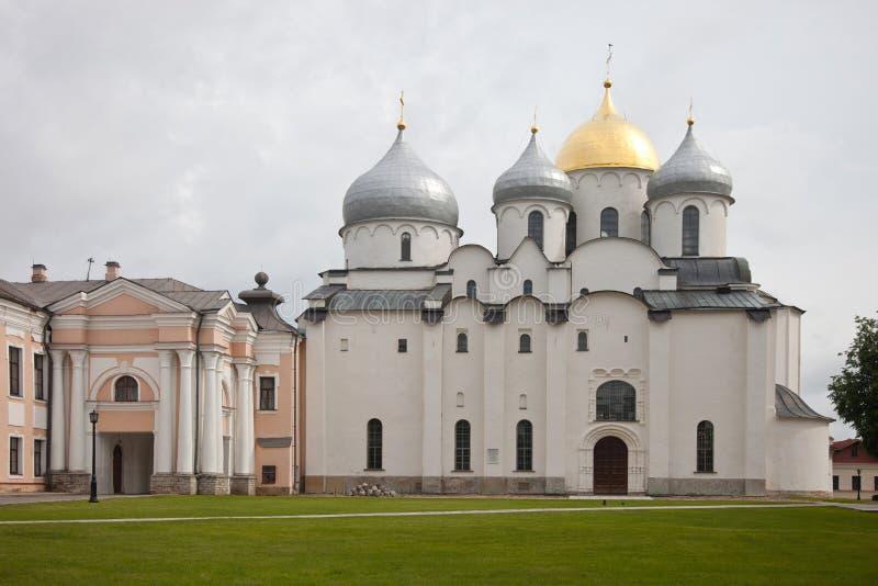 假定招标veliky教会的novgorod 克里姆林宫 免版税库存图片