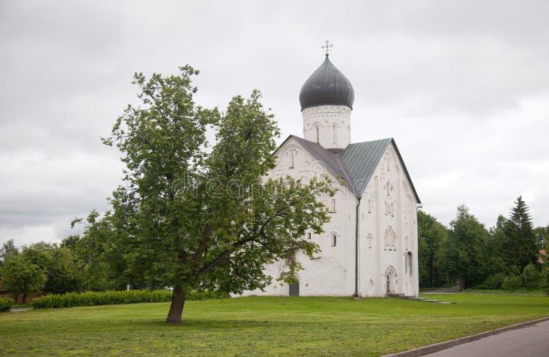 假定招标veliky教会的novgorod 我们的救主的变貌的教会 免版税库存图片