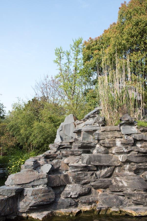 假山庭园石头 库存图片