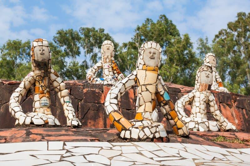 假山花园,昌迪加尔 免版税库存照片