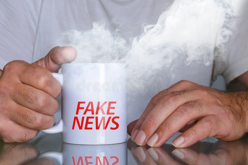 假新闻每天 图库摄影