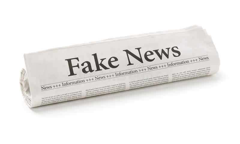 假新闻 免版税库存图片