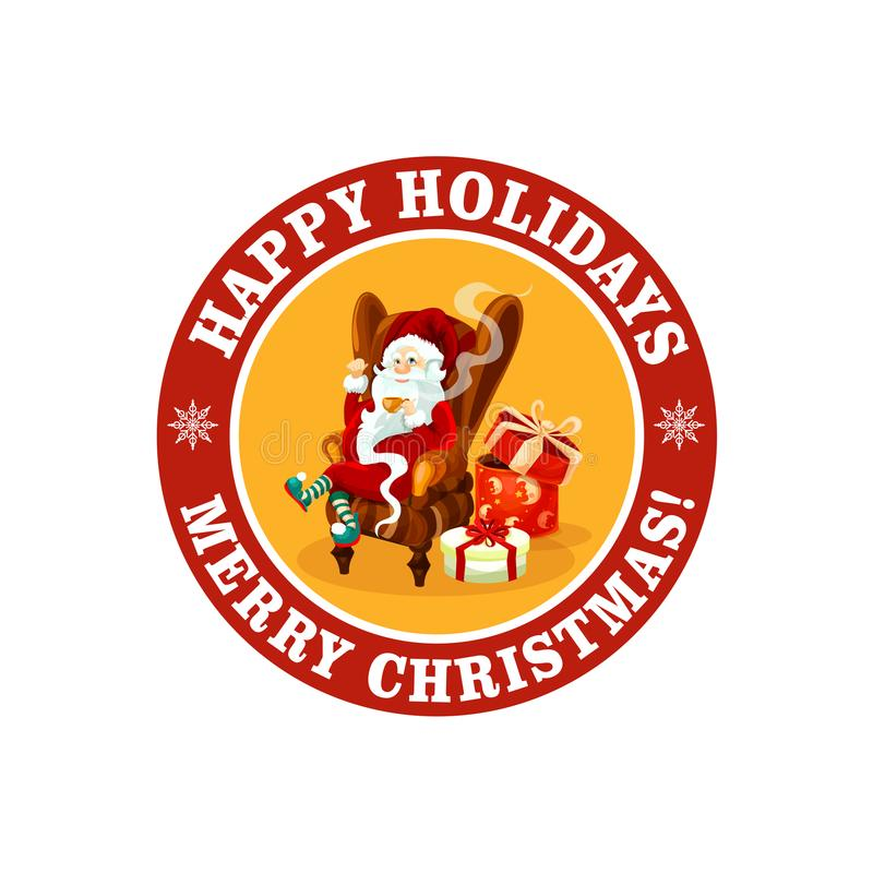 假日传染媒介问候的圣诞快乐象 向量例证