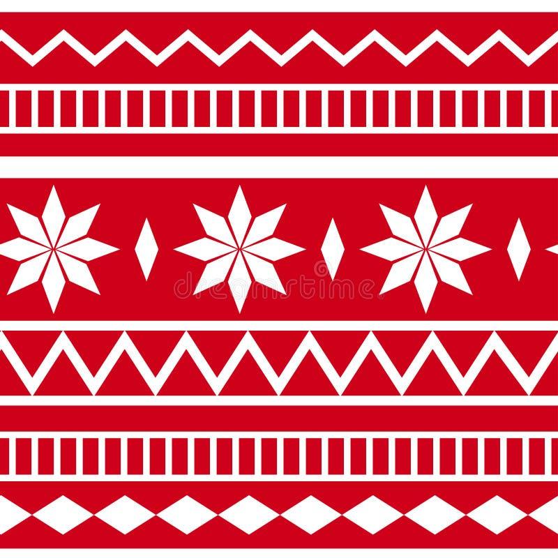 假日传统种族几何无缝的样式 r 库存例证