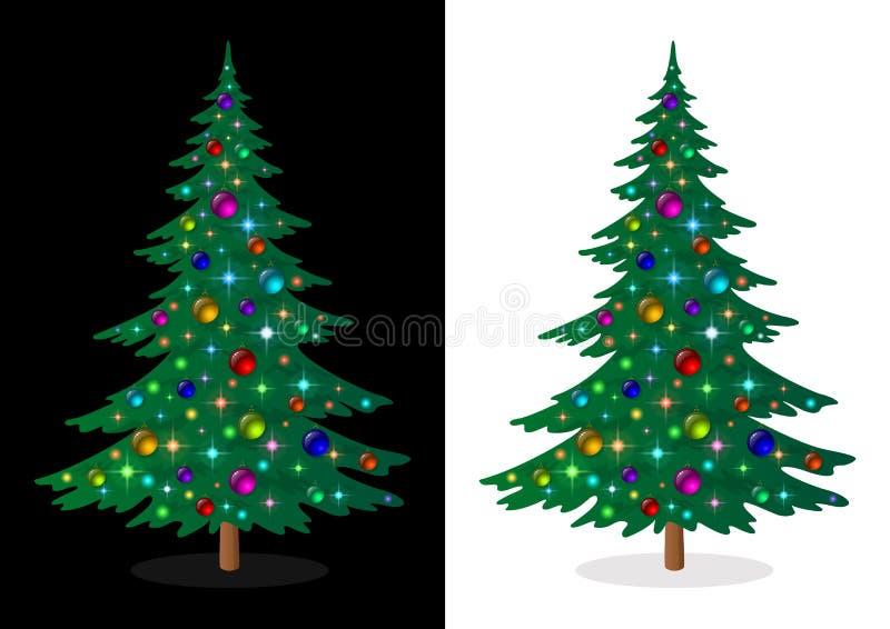 假日圣诞树 皇族释放例证