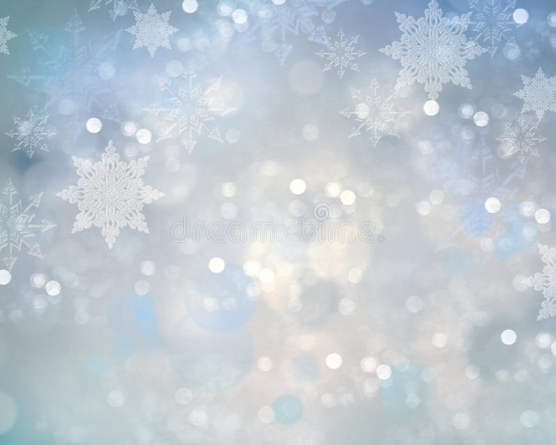 假日圣诞节雪花背景 向量例证