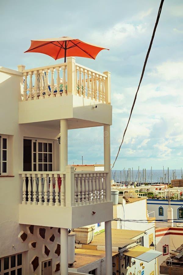 假日在Puerto de Mogan,大加那利岛 免版税库存图片