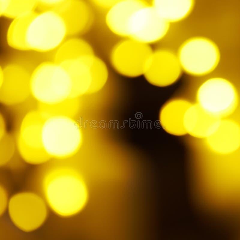 假日抽象红色和黄灯 库存图片