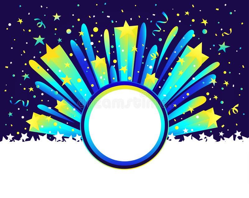 假日摘要星爆炸背景 传染媒介梯度模板 免版税库存图片