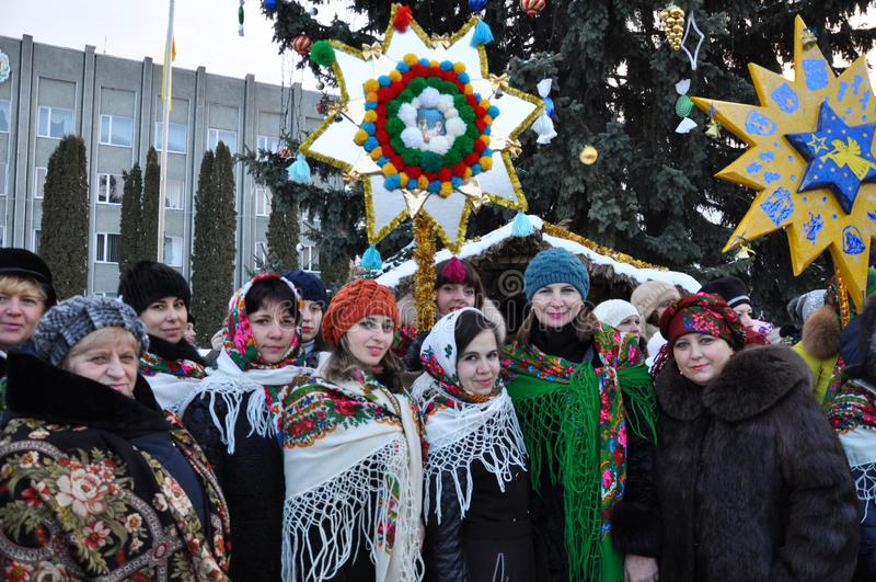假日颂歌和圣诞节星 图库摄影