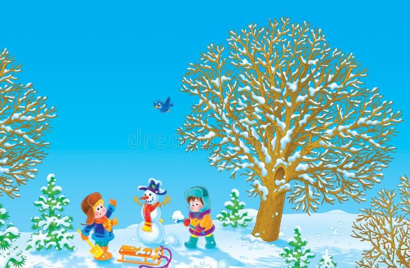 假期冬天 库存例证