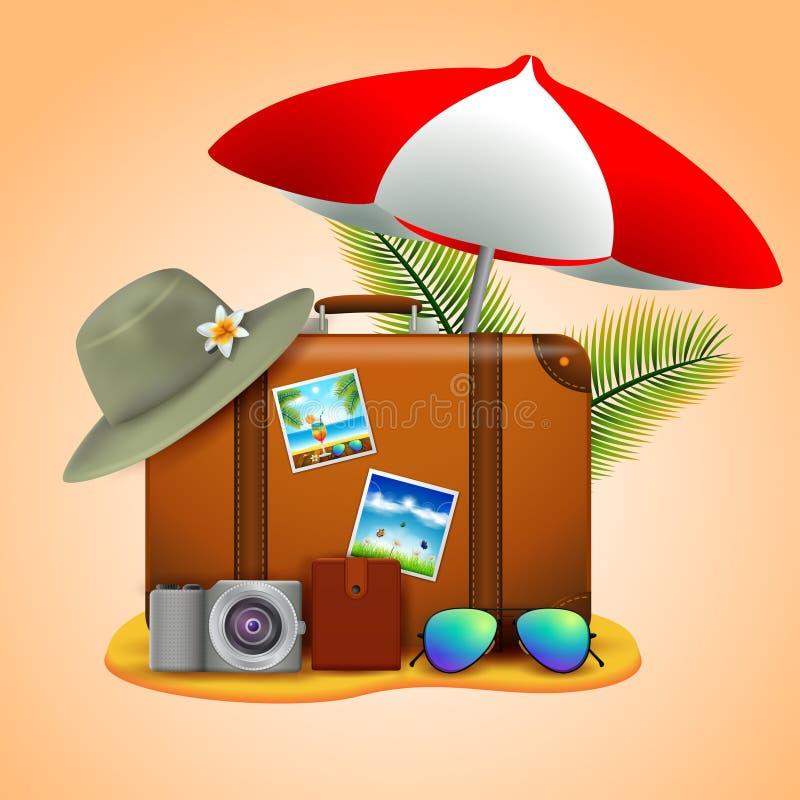 假期旅行的概念 向量例证