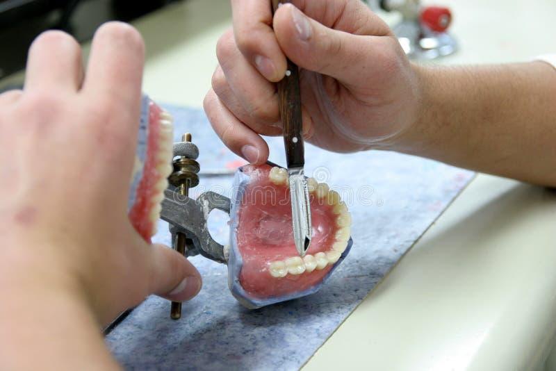 假生产的牙工作者 图库摄影