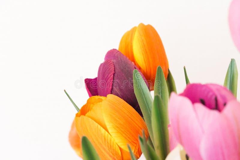 假花boquet以显示多灰尘的老瓣的各种各样的颜色 C 免版税库存图片