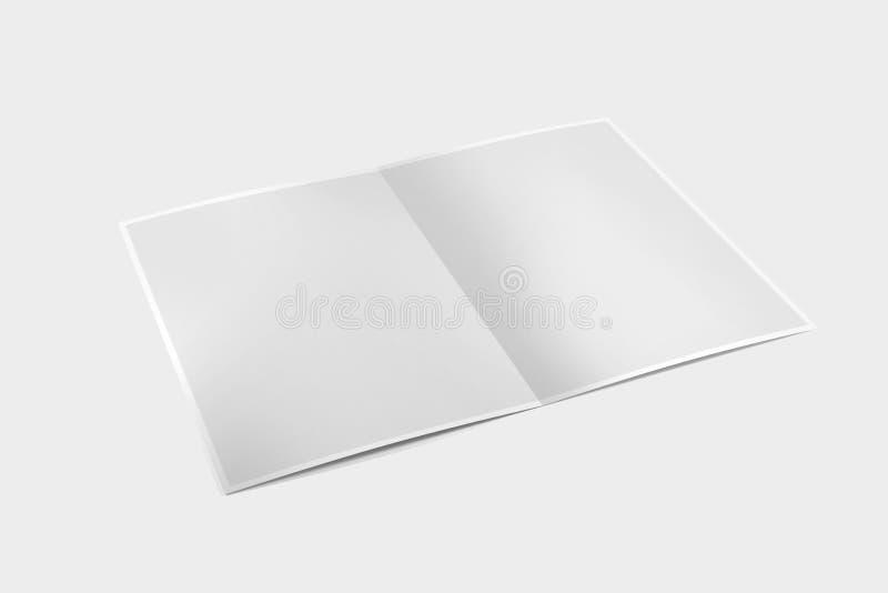 假装在白色背景- 3d的一个小册子翻译 库存例证
