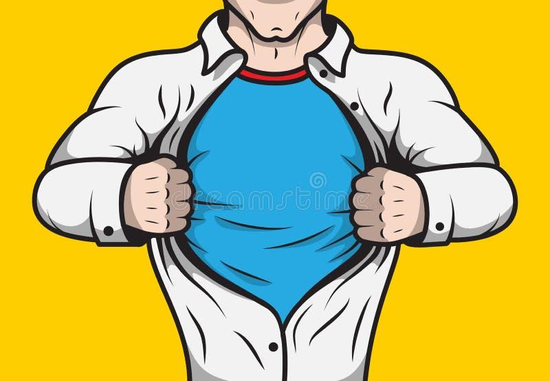 假装的漫画书超级英雄 库存例证