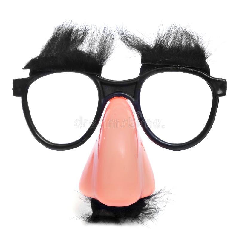 假鼻子和玻璃 库存图片