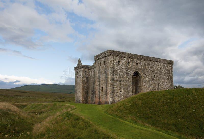 偏僻寺院城堡在苏格兰,英国的边界地区 库存照片