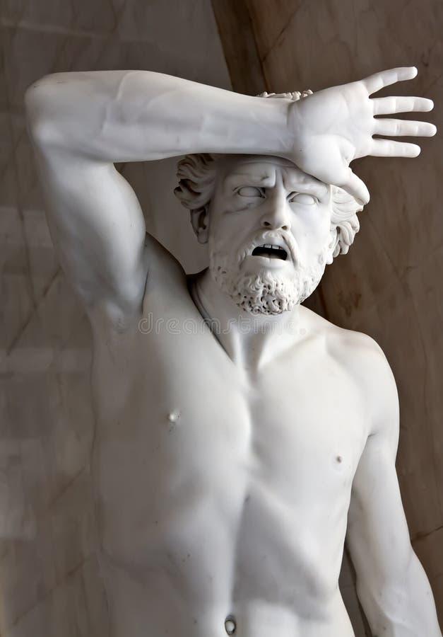 偏僻寺院大理石博物馆雕象 免版税库存图片