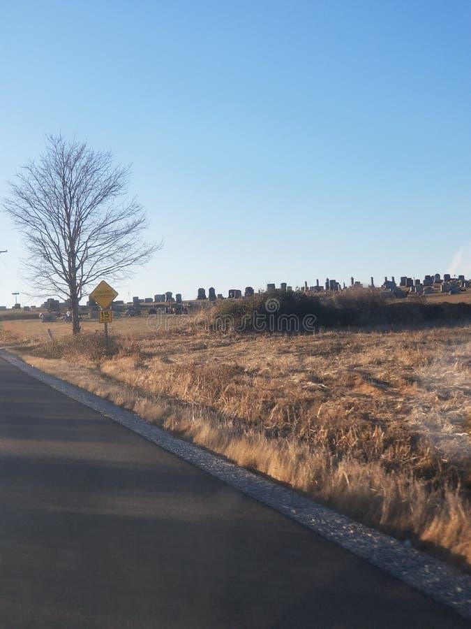 偏僻的国家公墓 免版税图库摄影