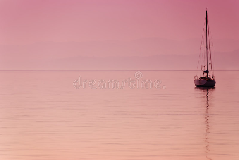 偏僻的小船 库存图片