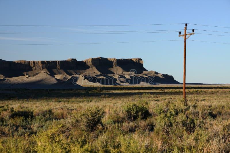 偏僻的沙漠 免版税库存照片