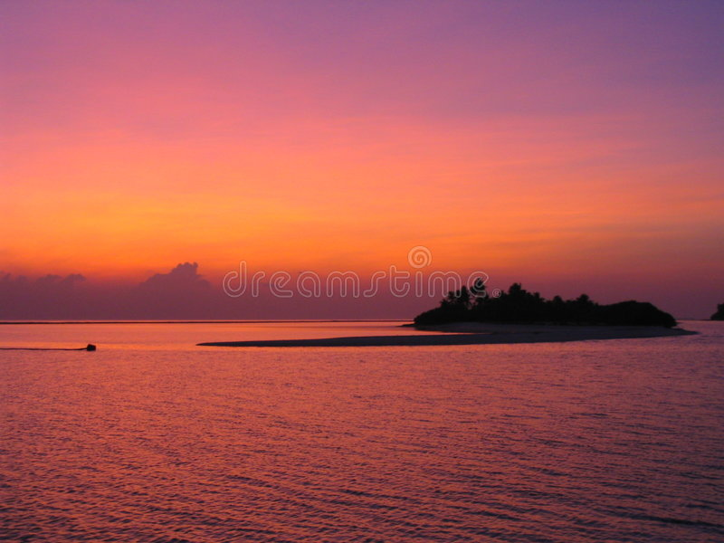偏僻的海岛 免版税库存照片