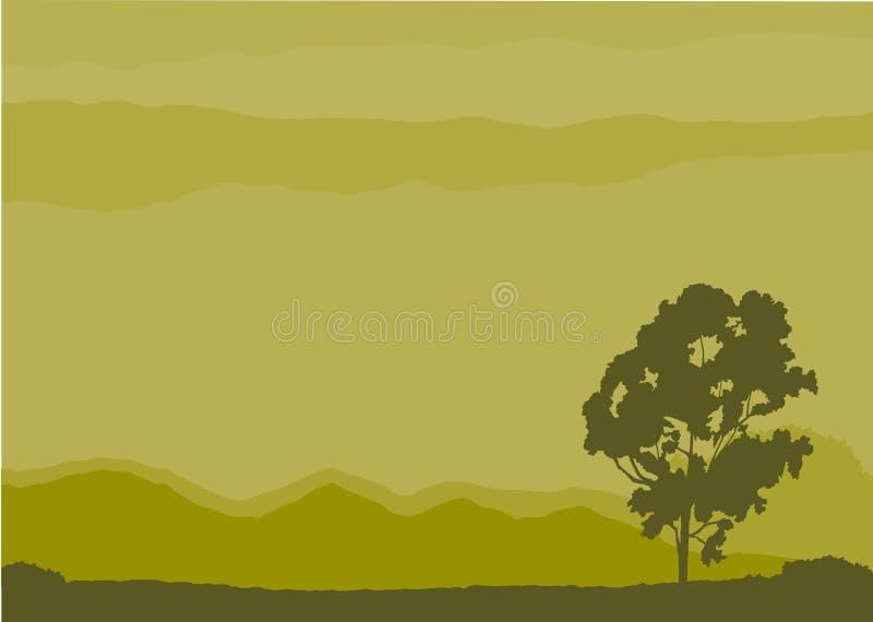 偏僻的结构树向量 库存例证
