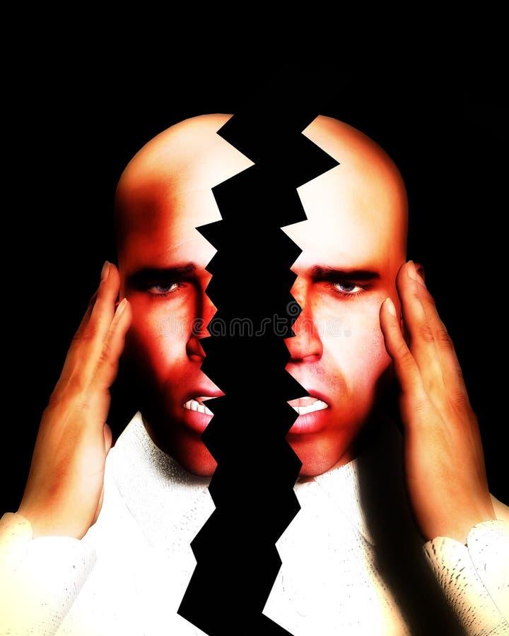 偏头痛 向量例证