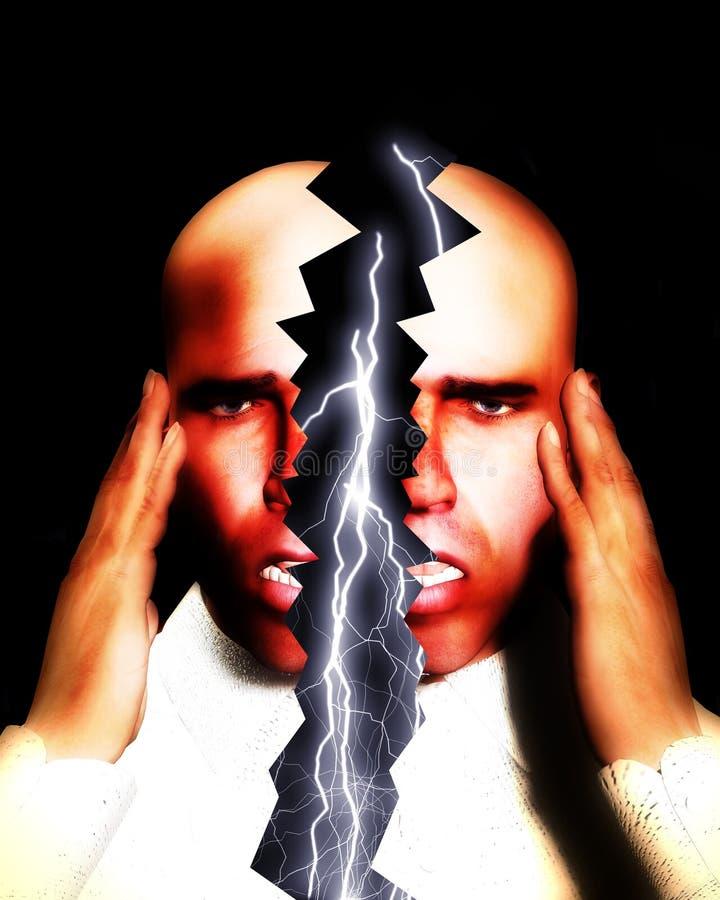 偏头痛3 库存例证