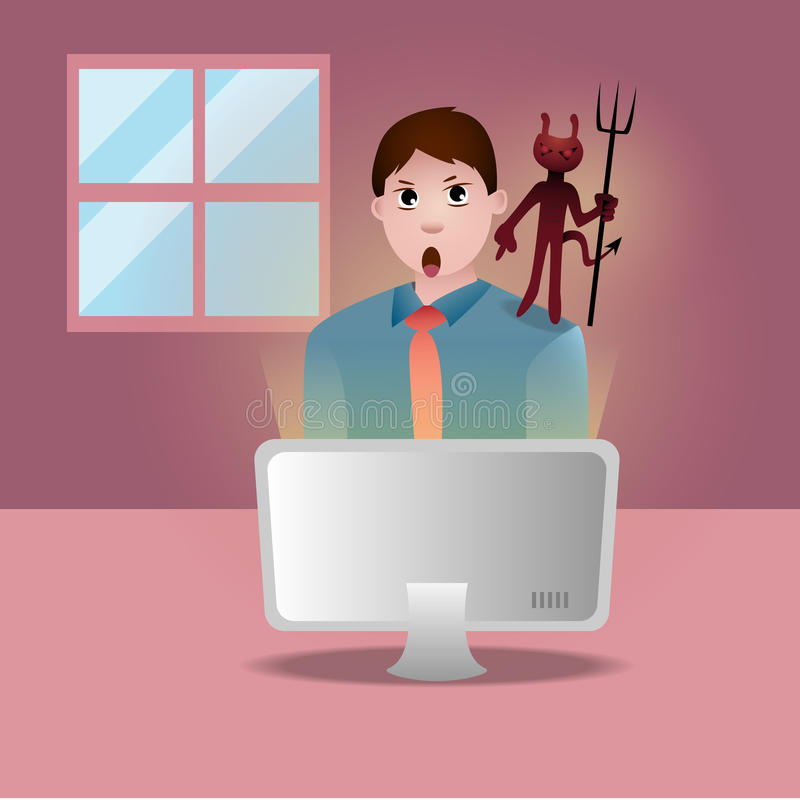 Download 偏差 向量例证. 插画 包括有 恶魔, 计算机, 办公室, 工作者, 当心, 向量, 偏差, 用户, 生意人 - 59112862