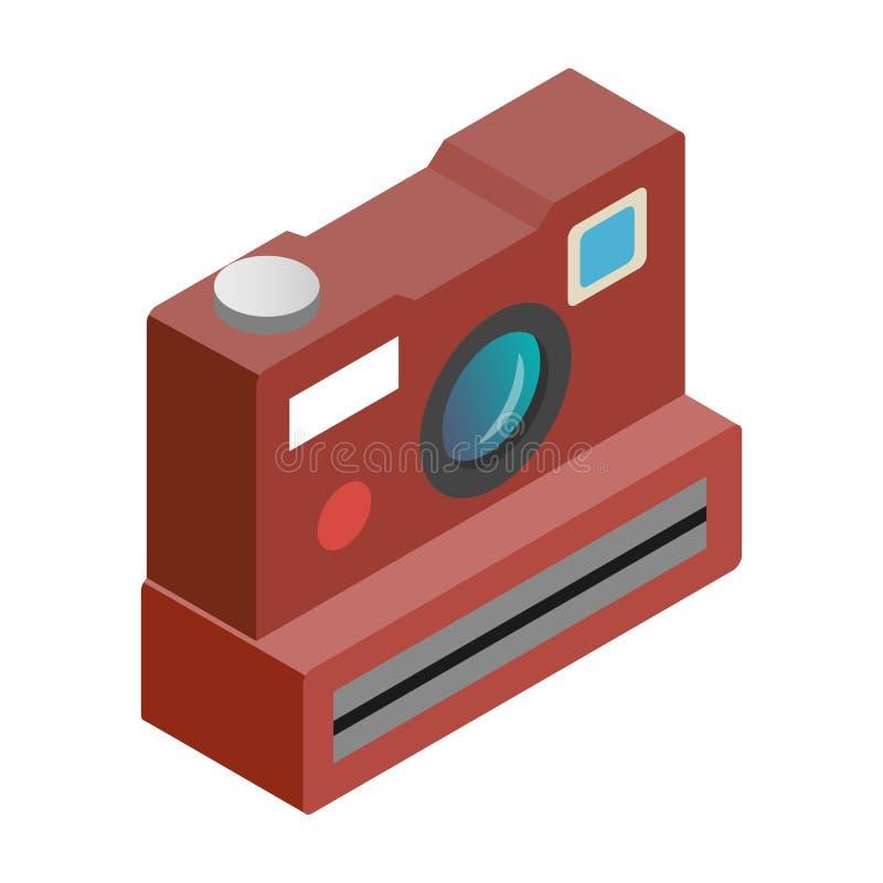 偏振光相机等量3d象 库存例证