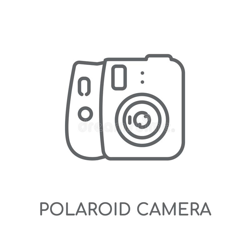 偏振光相机线性象 现代概述偏振光相机商标 皇族释放例证
