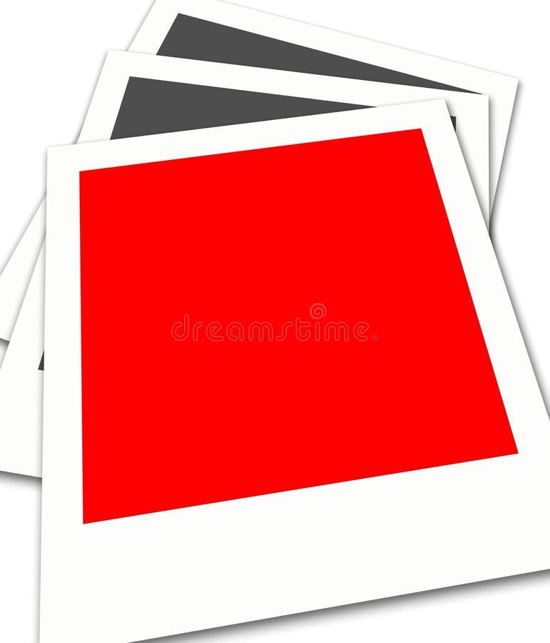 偏正片的胶卷画面 库存例证