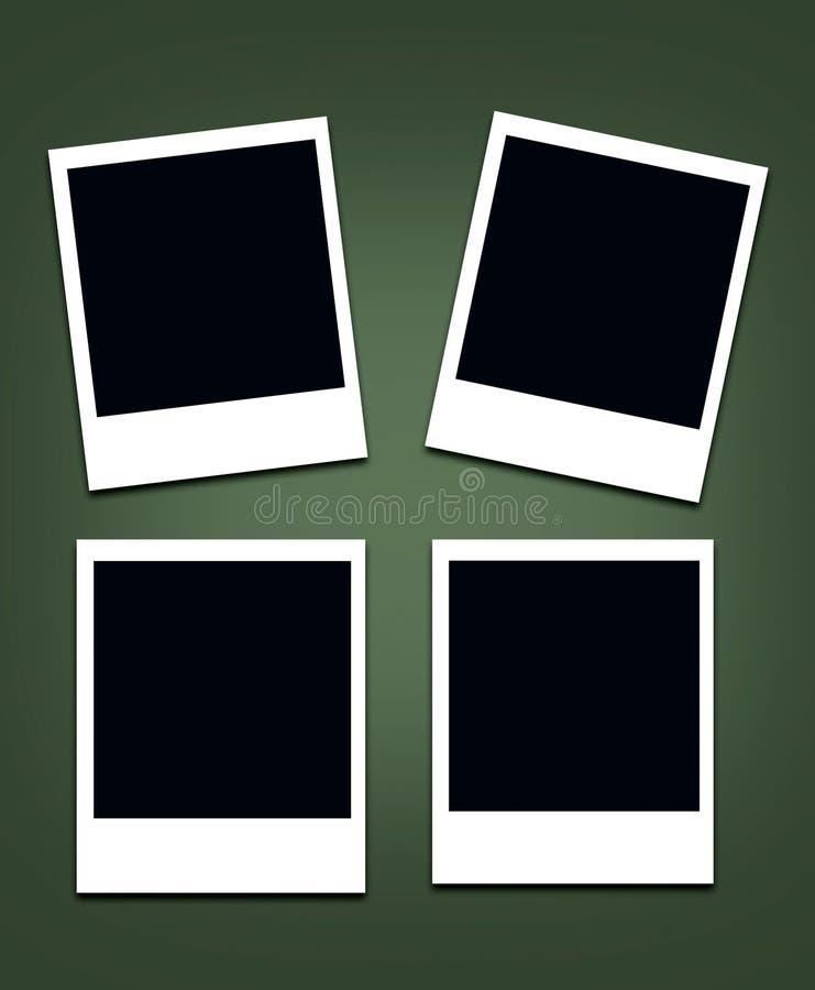 偏正片空的照片框架 向量例证