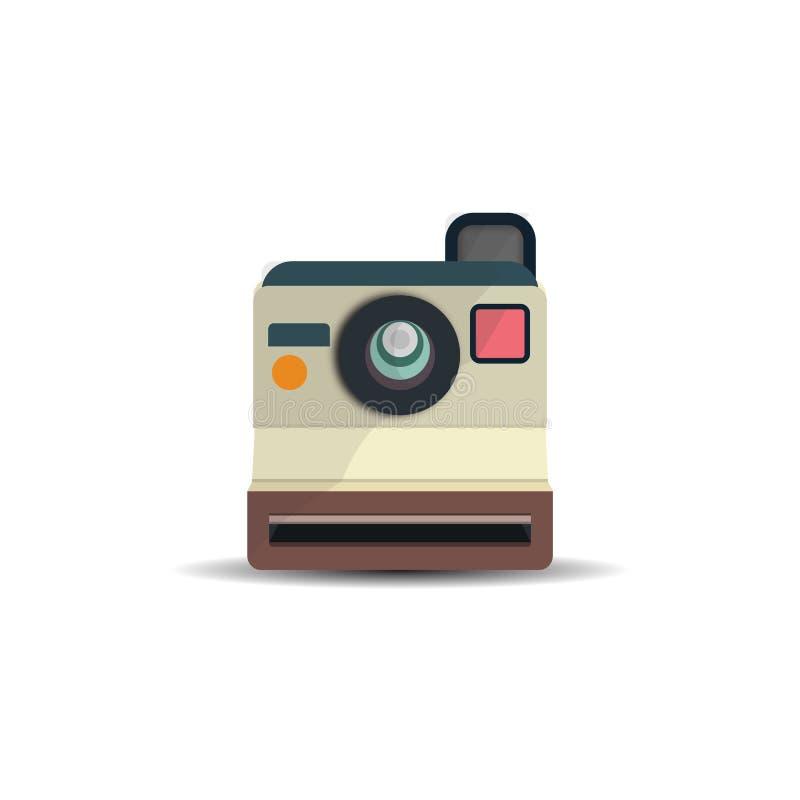 偏正片葡萄酒照相机平的设计传染媒介图象 向量例证