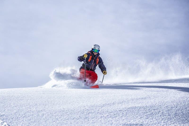 偏远地区滑雪 免版税库存照片