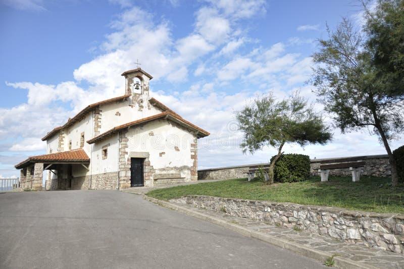 偏僻寺院在北西班牙 免版税库存照片