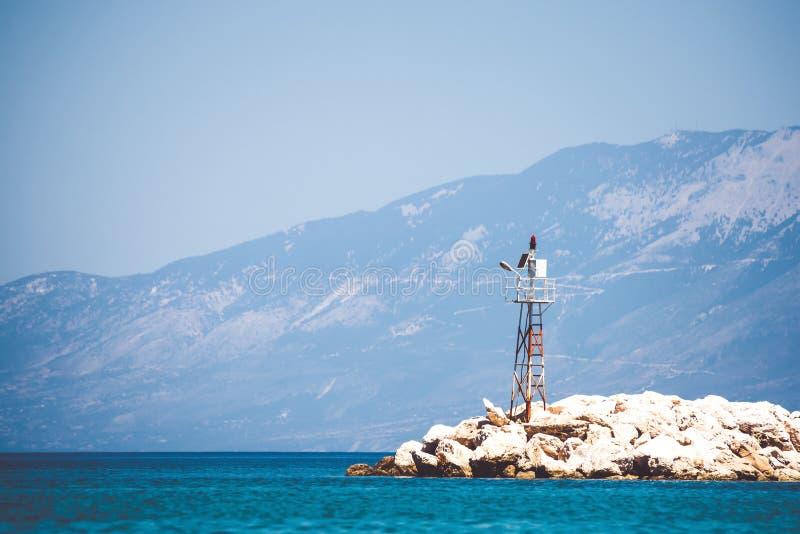 偏僻的海烽火台 库存照片