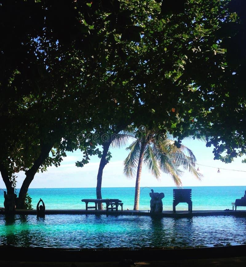 偏僻的海滩,酸值张,泰国 免版税库存图片