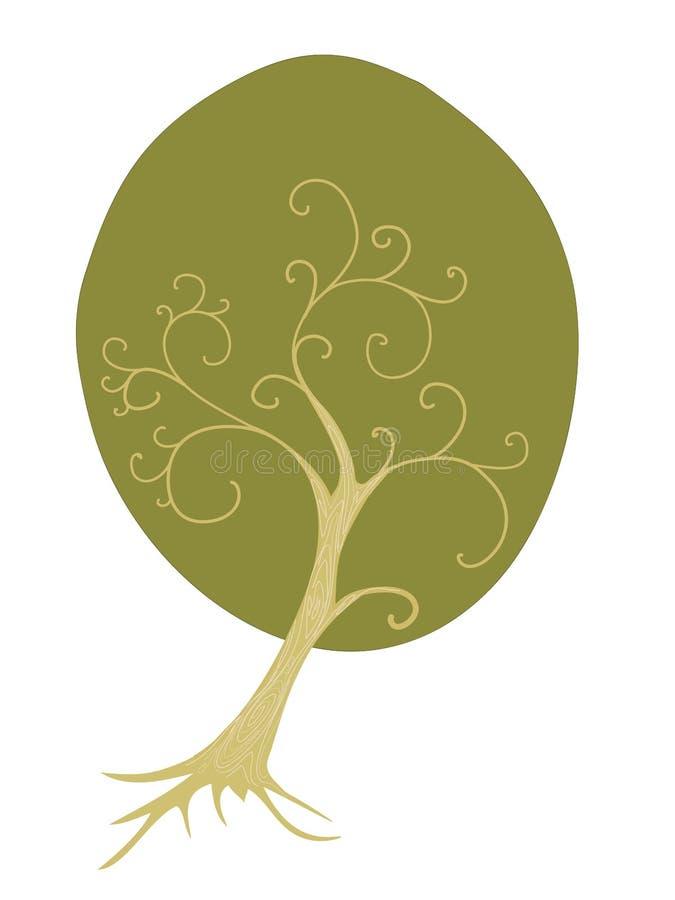 偏僻的绿色结构树 图库摄影