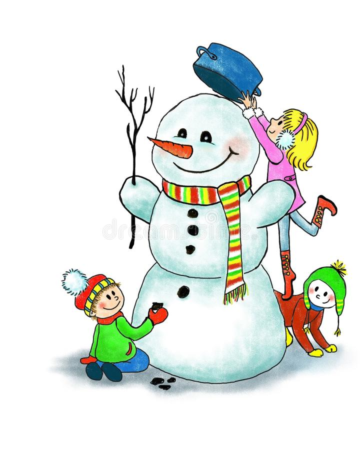 疯狂猜成语雪人_做一个雪人的愉快的孩子在冬天