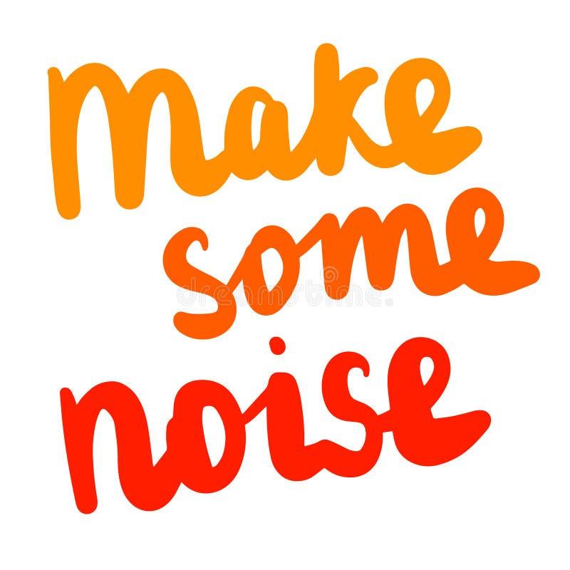 做一些噪声在橘黄色的手拉的字法 皇族释放例证