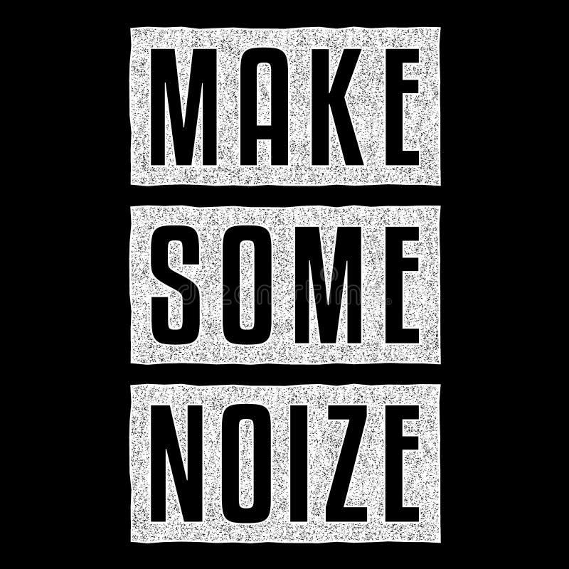 做一些noize 库存例证